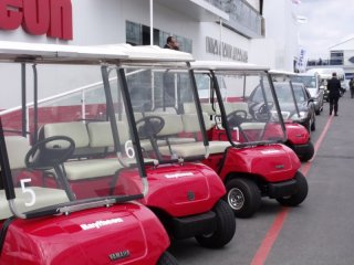 Raytheon Golf Buggies, Farnborough Airshow